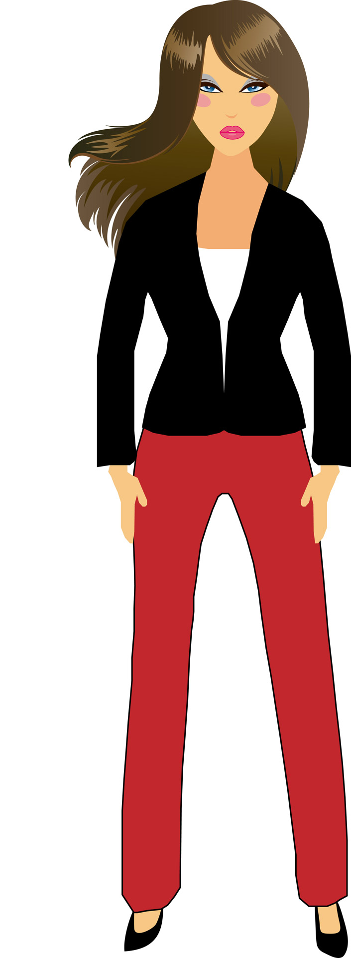 705x1920 Girl Clip Art Free Stock Photo