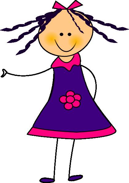 420x593 Purple Dress Girl Clip Art