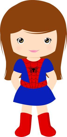 286x579 Super Girl Clipart