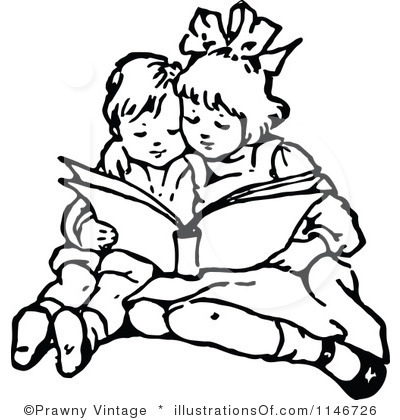 400x420 Children Reading Clip Art Black And White 101 Clip Art