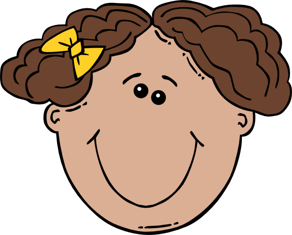 600x482 Girl Face Cartoon Clip Art Free Vector 4vector