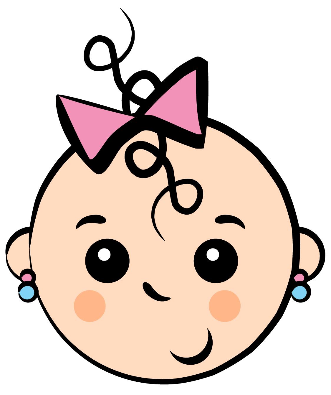 1124x1340 Cute Face Baby Girl Clipart