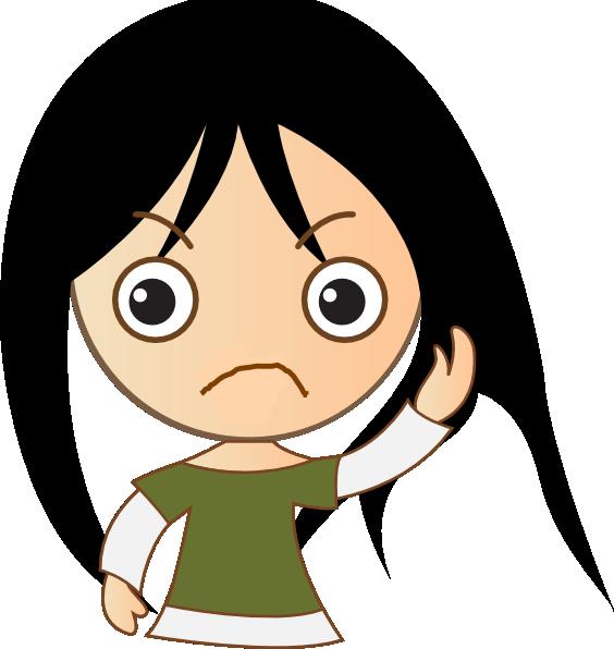 564x596 Cute Girl Sad Clip Art
