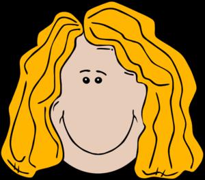300x263 Girl Face Blonde Smile Smiling Cartoon Vector Clip Art
