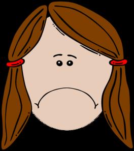 264x297 Sad Girl Clipart