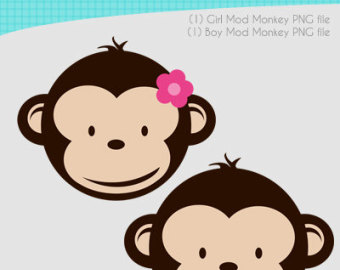 340x270 Girl Monkey Face Clipart