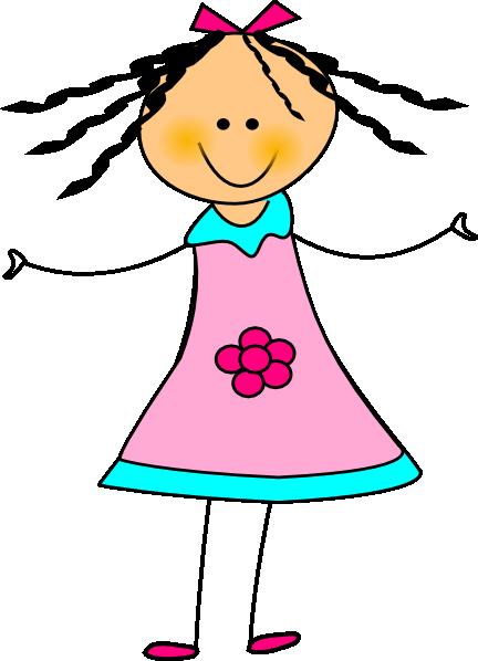 432x598 Happy Girl Clip Art
