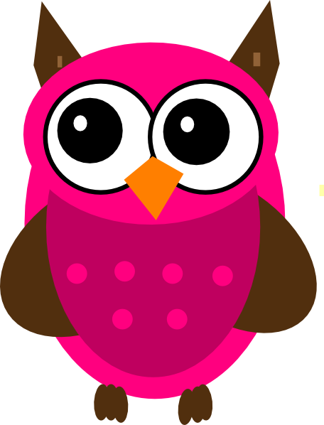 456x598 Free Baby Girl Owl Clip Art
