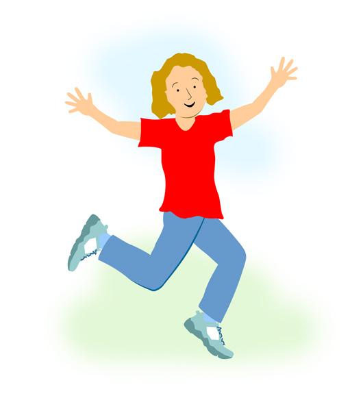 530x600 Little Girl Running Clipart