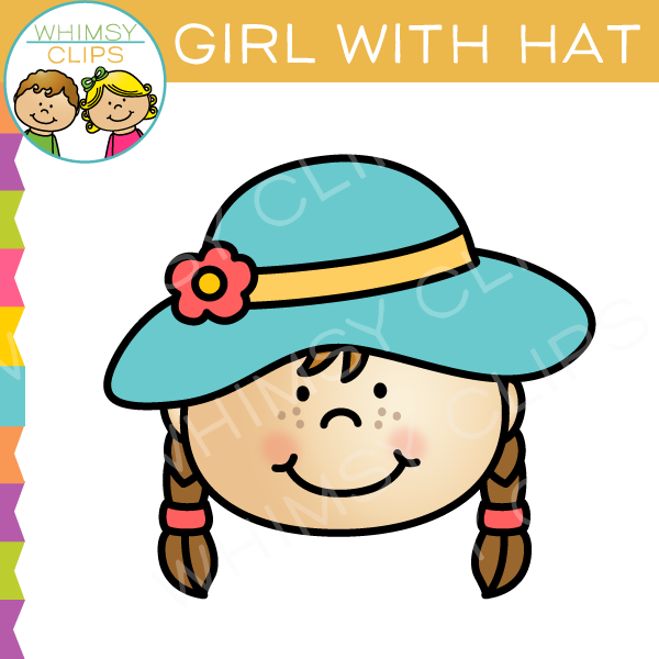 600x600 Girl With Hat Clip Art , Images Amp Illustrations Whimsy Clips