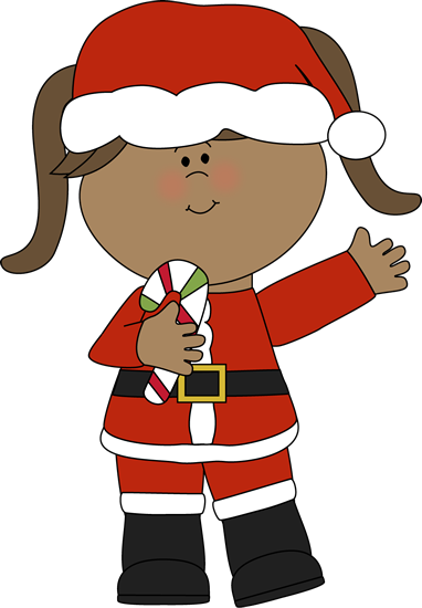 382x550 Girl Santa With A Candy Cane Clip Art