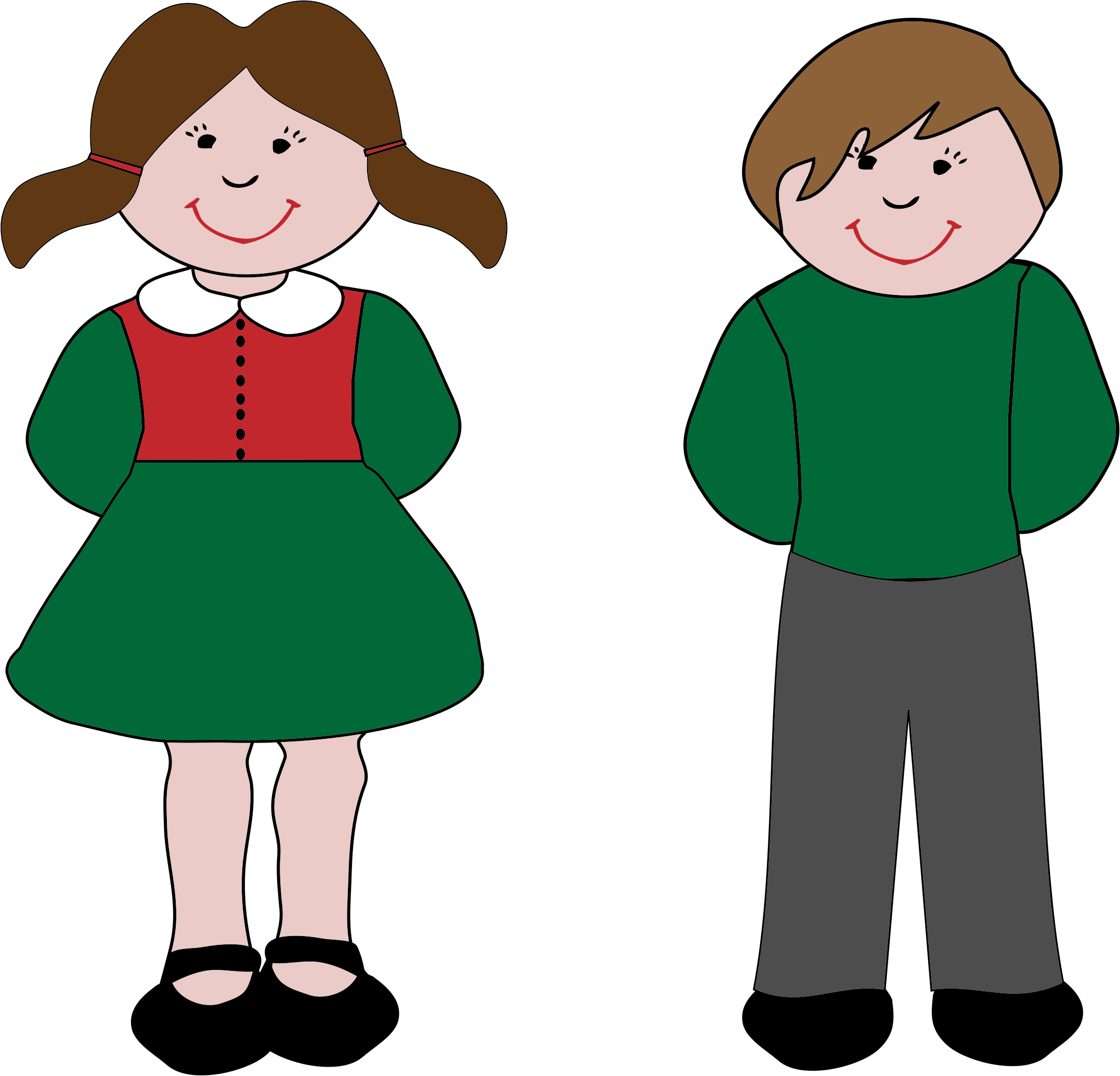 2154x2068 Girl And Boy Clipart