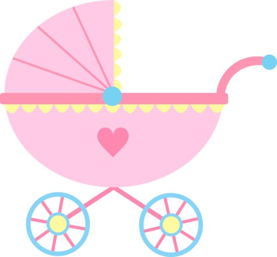 550x510 Baby Girl Baby Clipart Girl Cute Pink Baby Carriage Free Clip Art