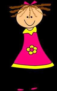 189x298 Happy Girl Pink Clip Art