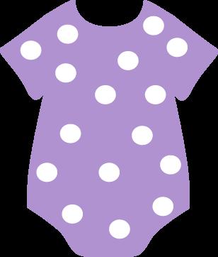 308x362 Purple Polka Dot Onesie Clip Art