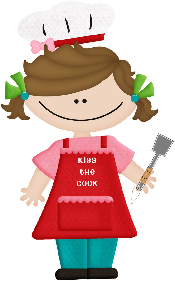 Girl Cooking Cliparts