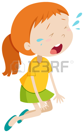 Girl Crying Cartoon Clipart