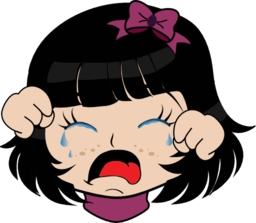 256x223 Crying Girl Manga Smiley Emoticon Clipart I2clipart