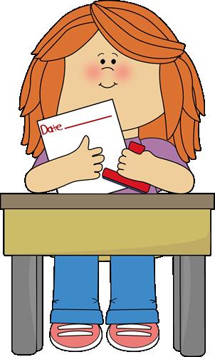 302x500 Girl Date Stamper Job Clip Art