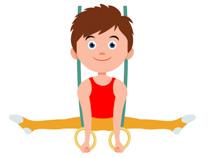 210x158 Girl Doing Gymnastics Clipart