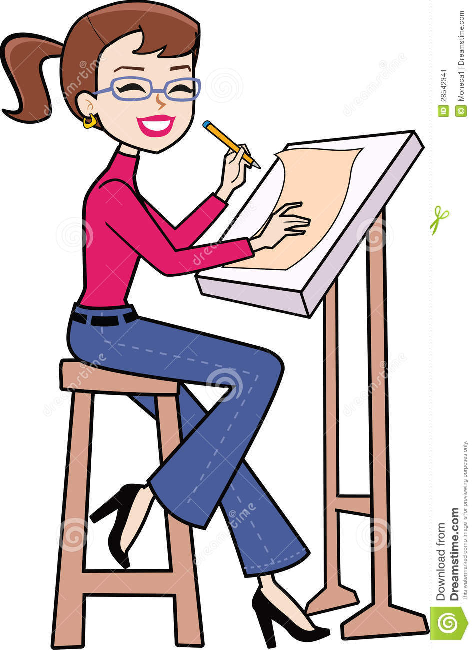950x1300 Girl Drawing A Picture Clipart