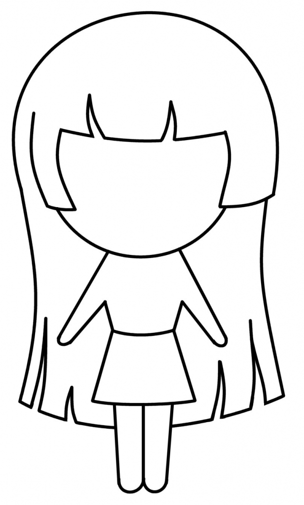 616x1024 Simple Anime Girl Drawing 1000 Images About Anime How