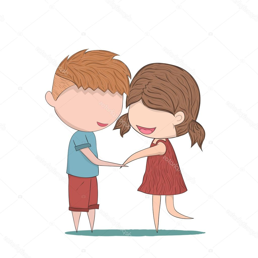 1024x1024 Cut Girl Boy Holding Hand Drawing Anime Holding Hands