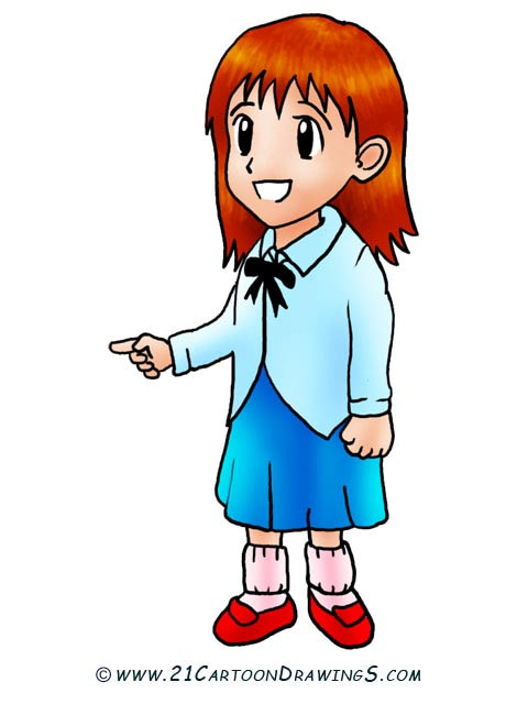 480x640 Girl Drawing Clipart