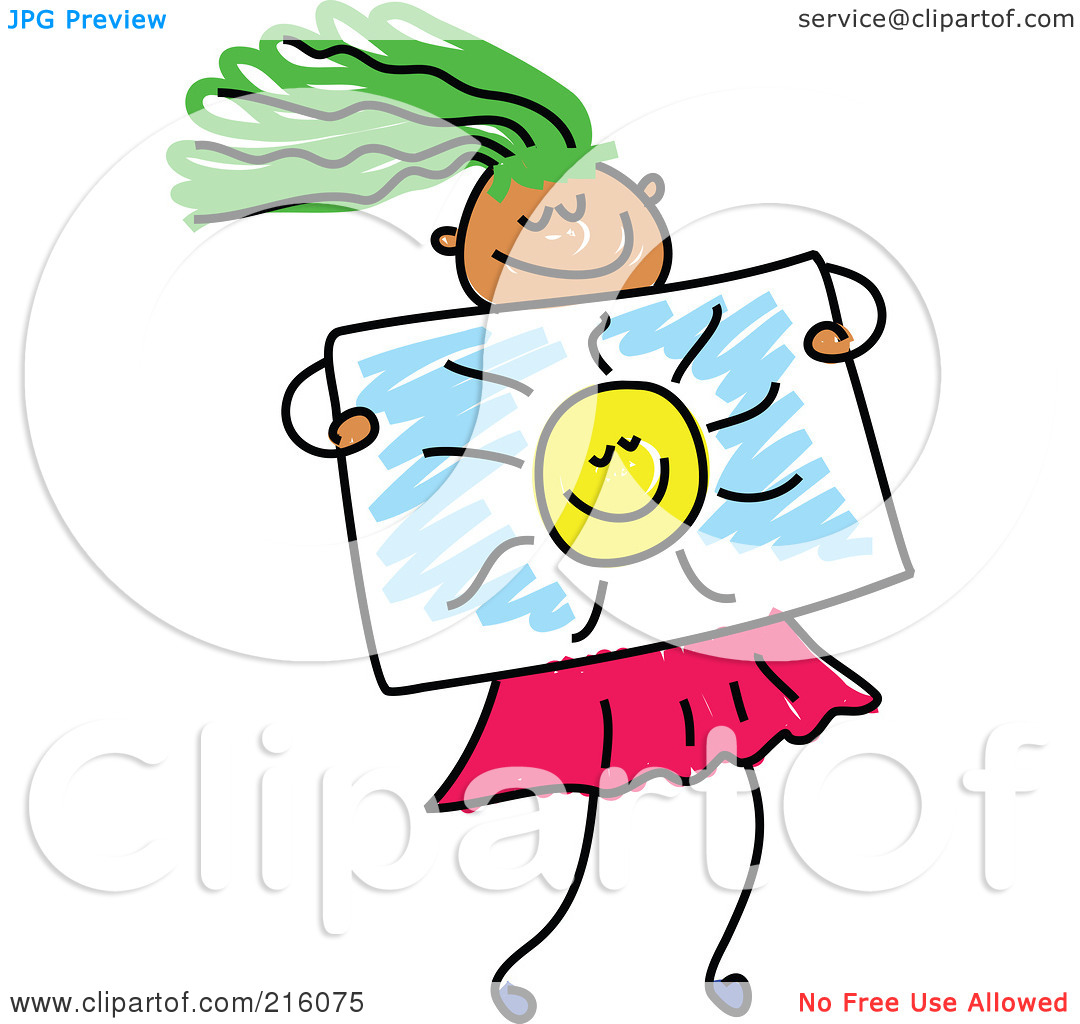 1080x1024 Girl Drawing A Picture Clipart