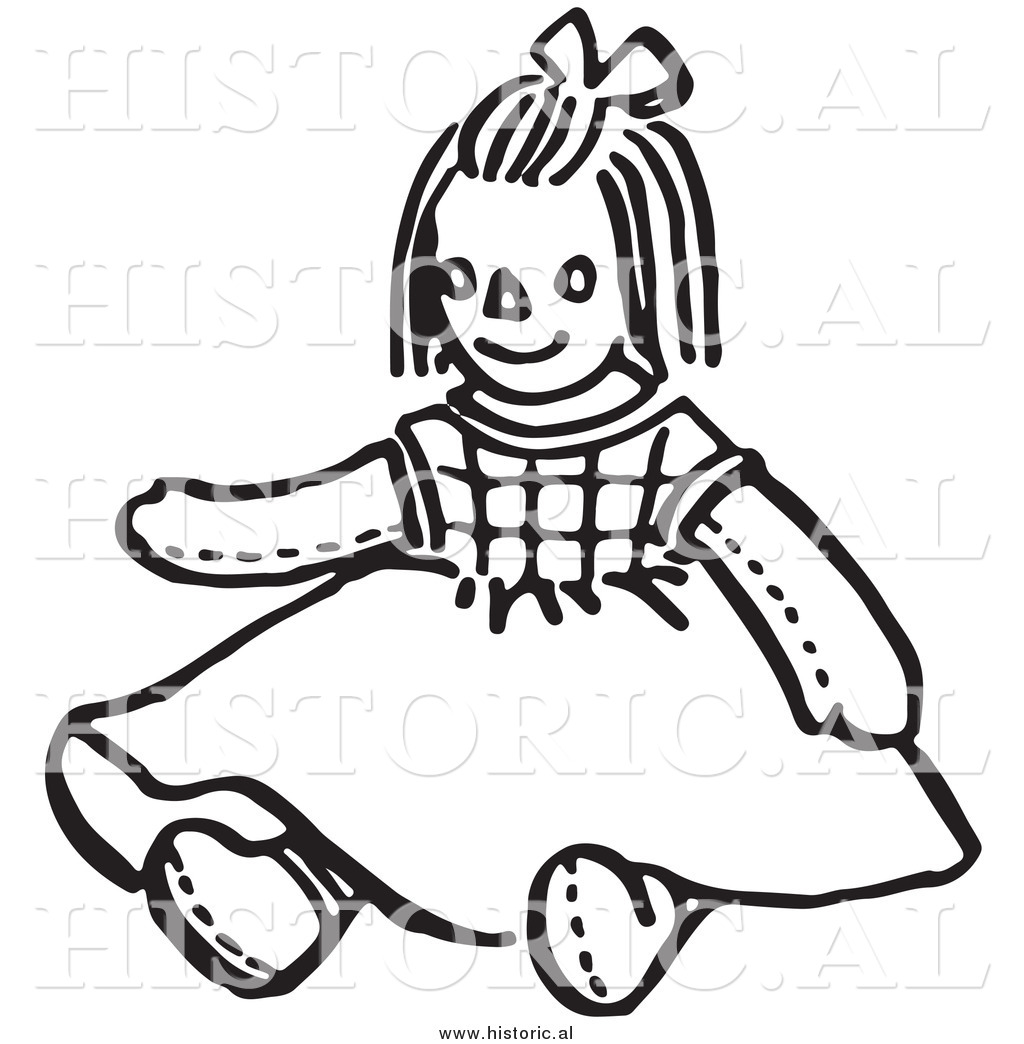 1024x1044 Clipart of a Girl Doll Wearind a Dress