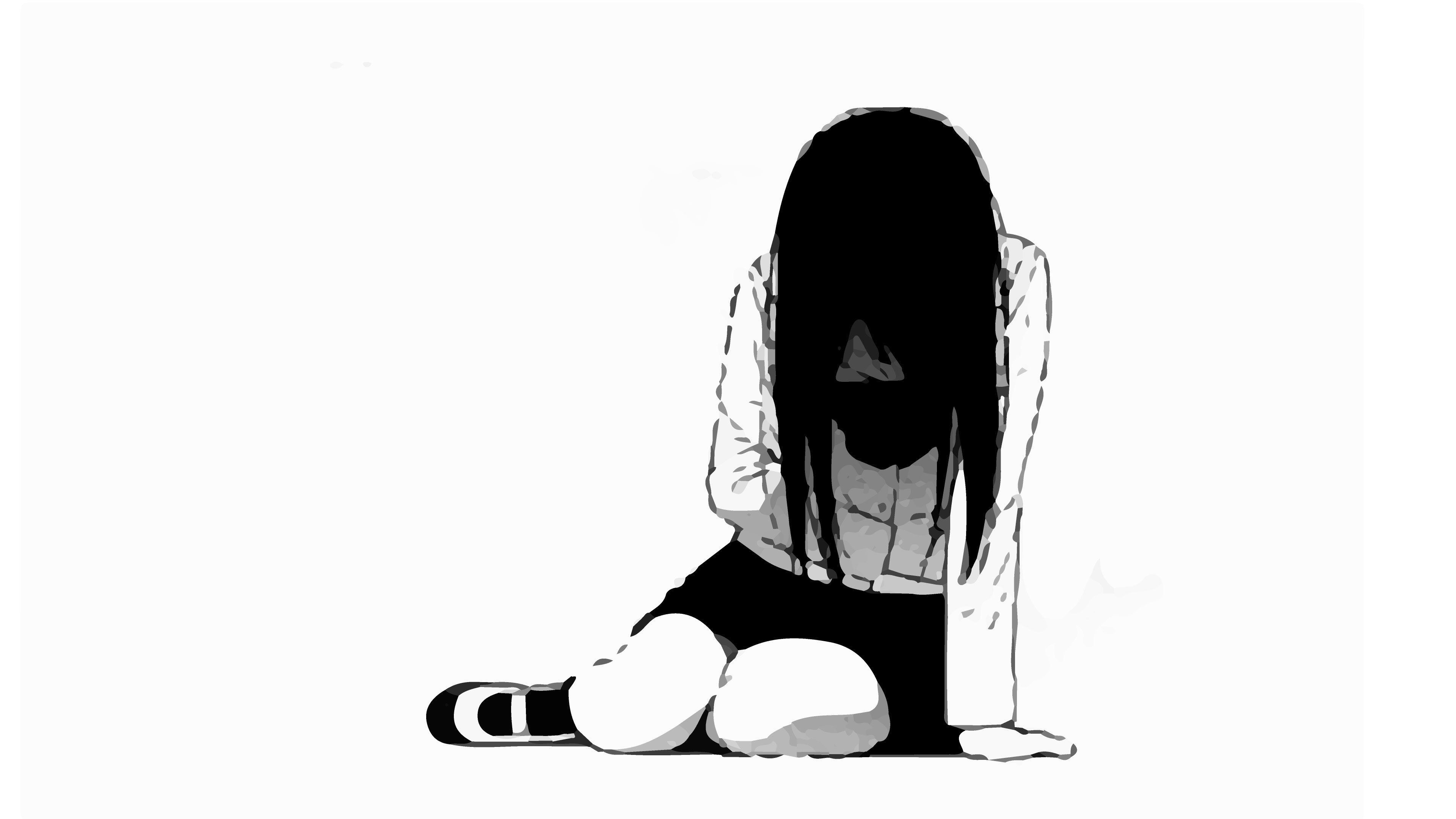 3840x2160 depressed sad anime girl crying drawing and pictures sadever