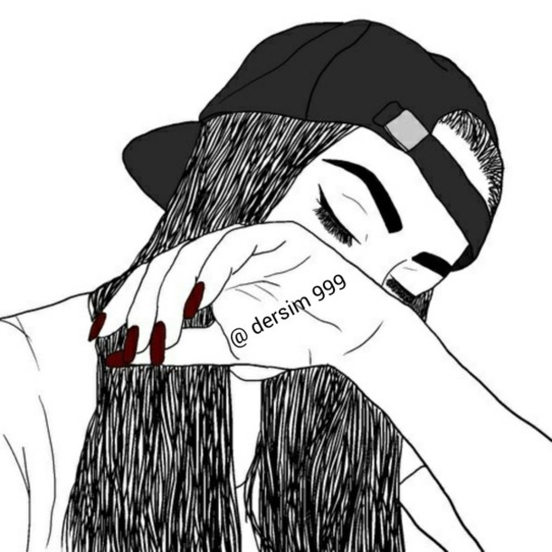 610x610 Drawn Nail Black And White