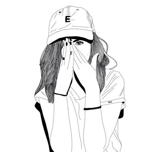500x484 Girl Draw Uploaded By Yuralia On We Heart It