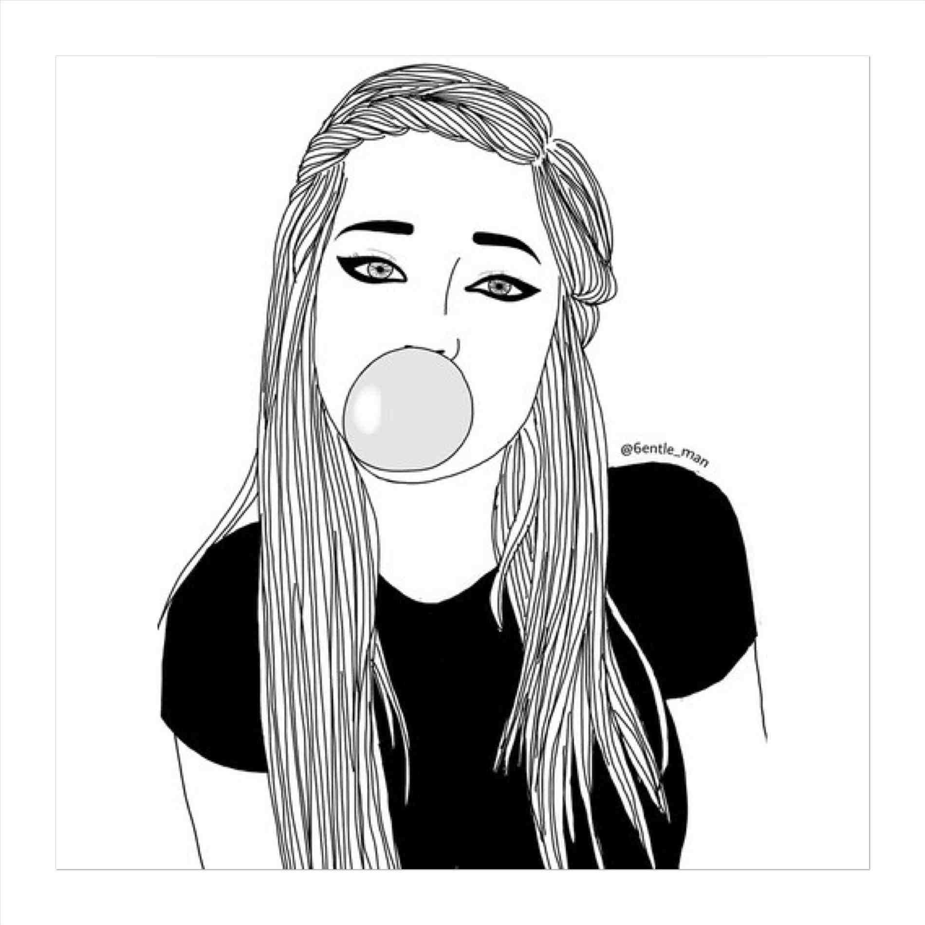 1900x1900 hipster girl drawing tumblr black and white