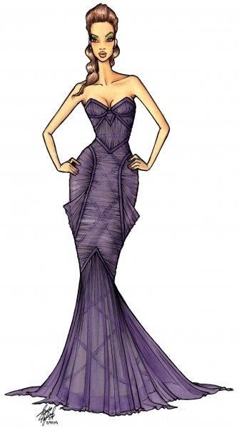 Girl Drawing Dress