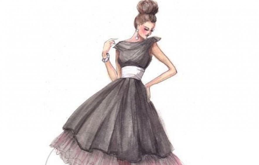 885x563 Drawn Fashion Fashion Lady