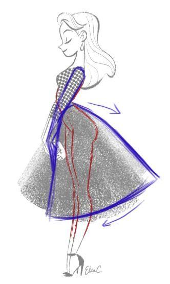 332x556 Drawn Women Dress Drawing