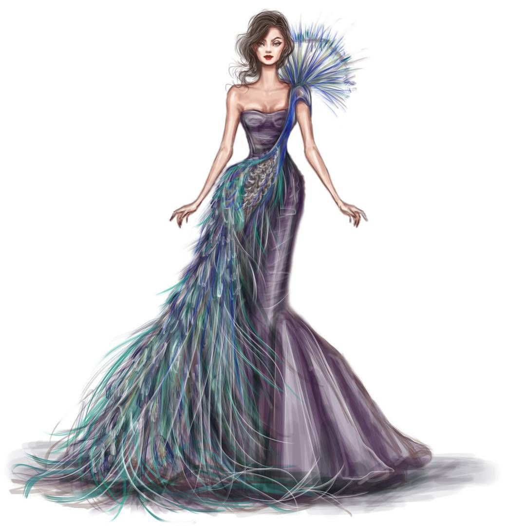 1080x1080 Peacock Gown Watch My Instagram Story To See The Steps Of Making
