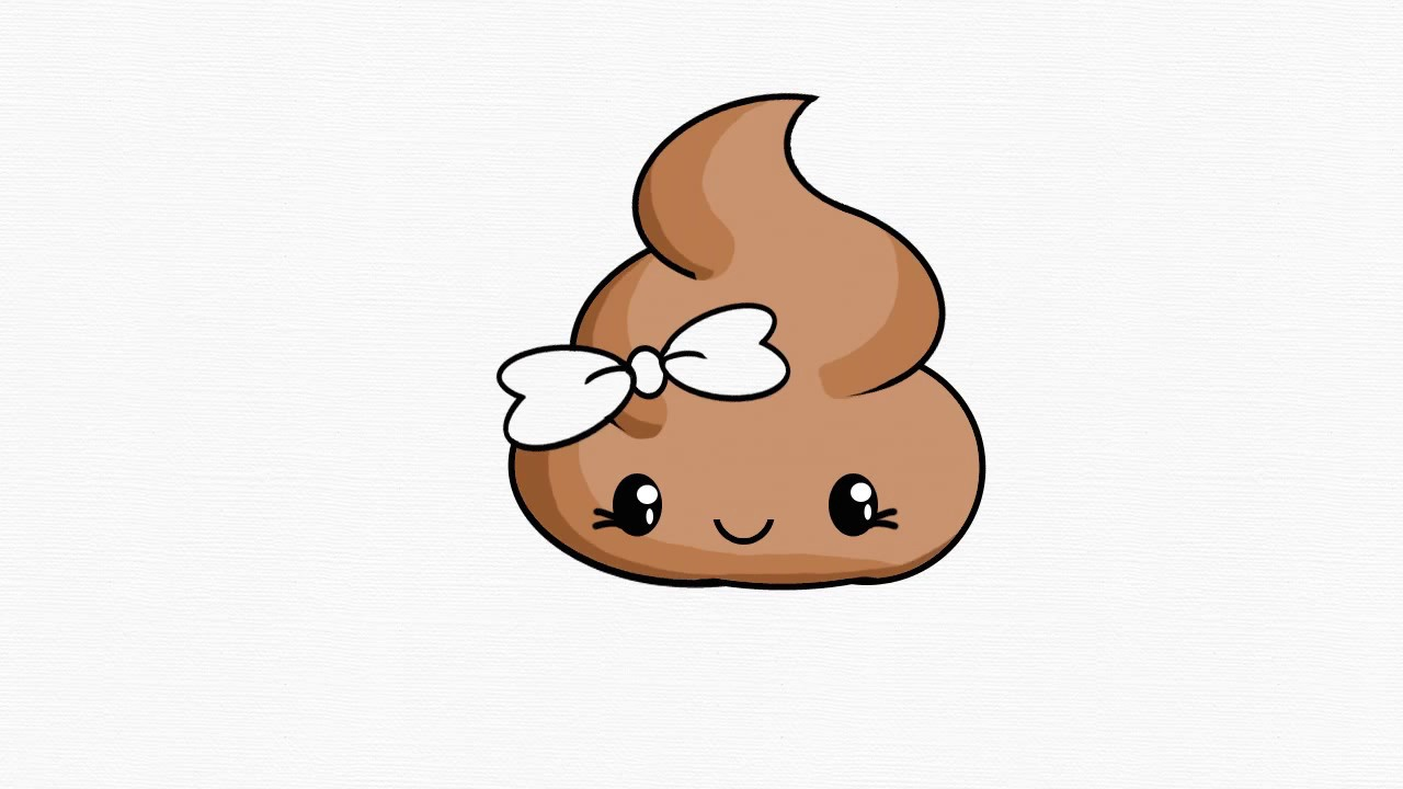 1280x720 How To Draw Girl Poop Emoji (Step By Step Easy)
