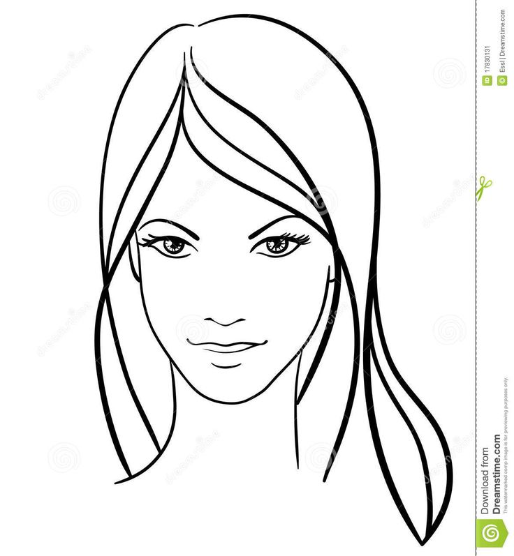 Girl Drawing Face