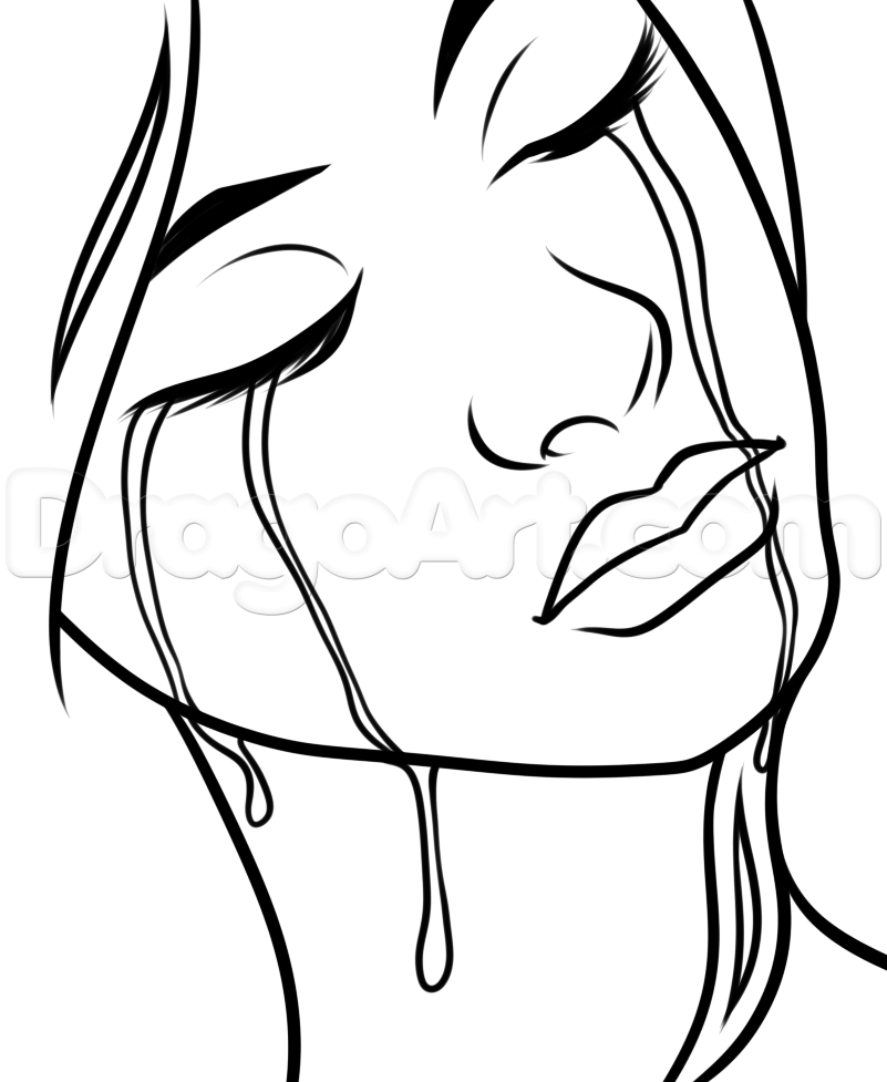 801x977 How To Draw Falling Tears Step 7 Art How To Draw