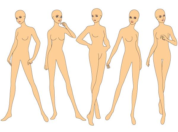 600x445 Fashion Drawing Base Templates Woman's Figure Fashion