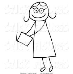 236x240 stick figure girl (3) Clipart Stick figures and