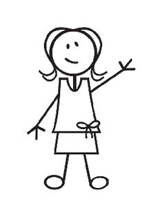 236x314 Stick Figure Girl Clipart Black And White