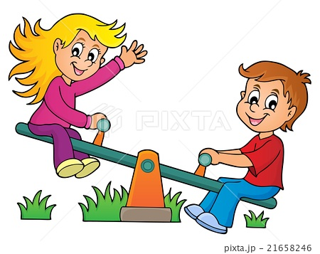 450x357 Girl Child's Drawing Young Girl Seesaw Children Photos
