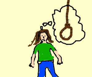 300x250 Girl Thinks About Hanging Herself To Death