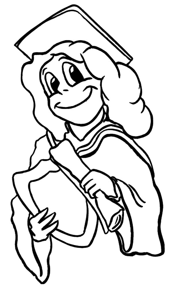 600x1013 Graduation Girl Is Proud Of Herself Coloring Pages Color Luna