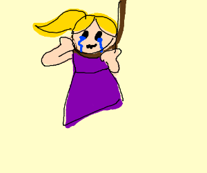 300x250 Girl Hangs Herself (Drawing By Melon Elephants)