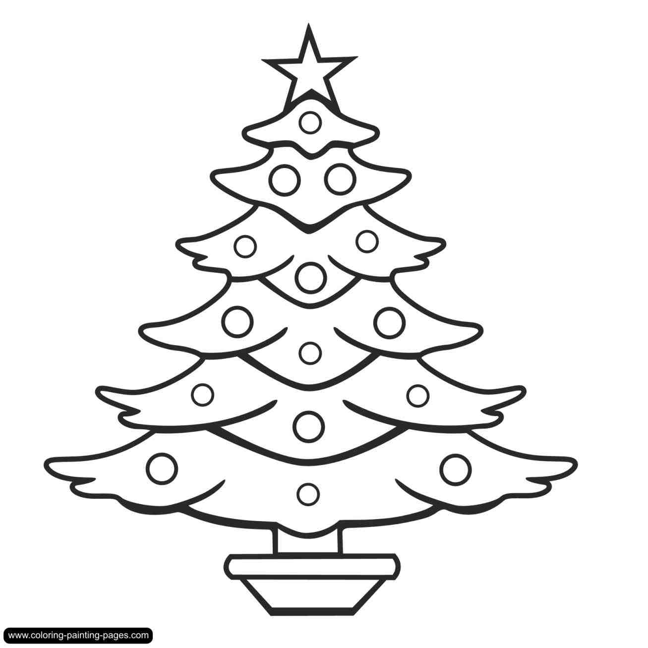 1307x1307 Simple Christmas Tree Drawings Cheminee.website
