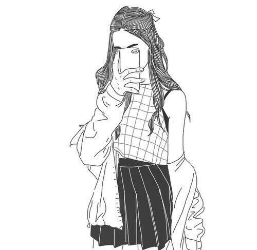500x487 Drawn Selfie Sketch